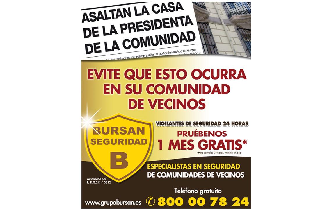 Creatividad para página de la campaña de publicidad de BURSAN