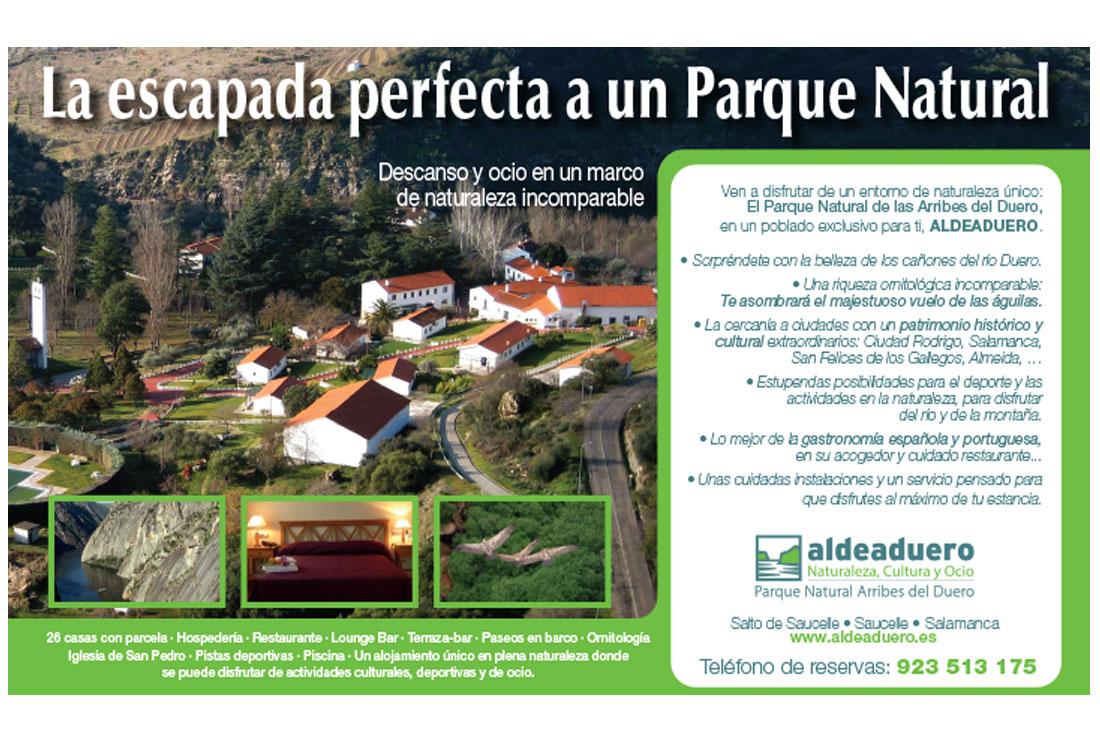 Original principal de la campaña de publicidad de ALDEADUERO