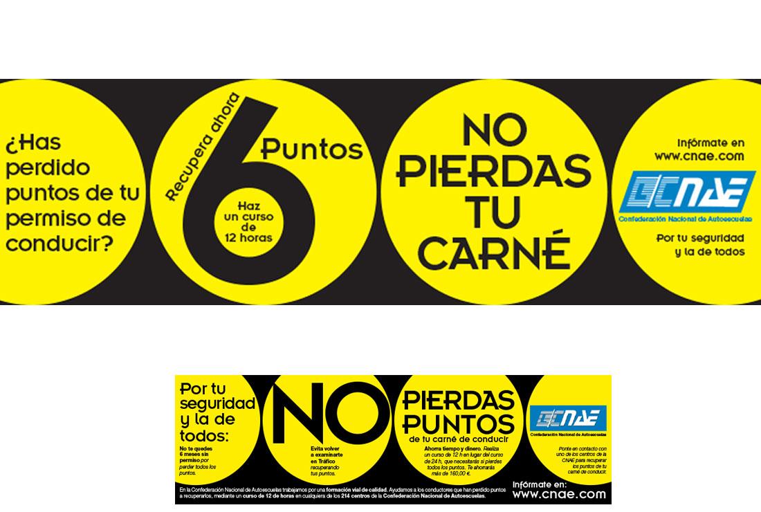 Creatividades Diseño Gráfico de la campaña Recupera tus Puntos del Carné de Conducir - CNAE