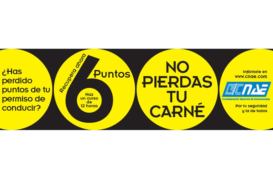 Creatividad Principal Diseño Gráfico de la Campaña Recupera tus Puntos del Carné de Conducir - CNAE