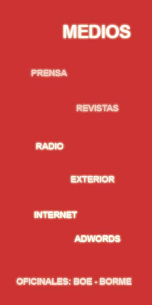 Campañas de Publicidad en Medios.