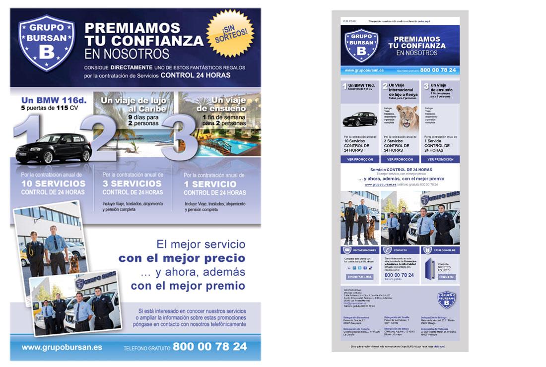 Tarjetón email marketing campaña fidelización BURSAN