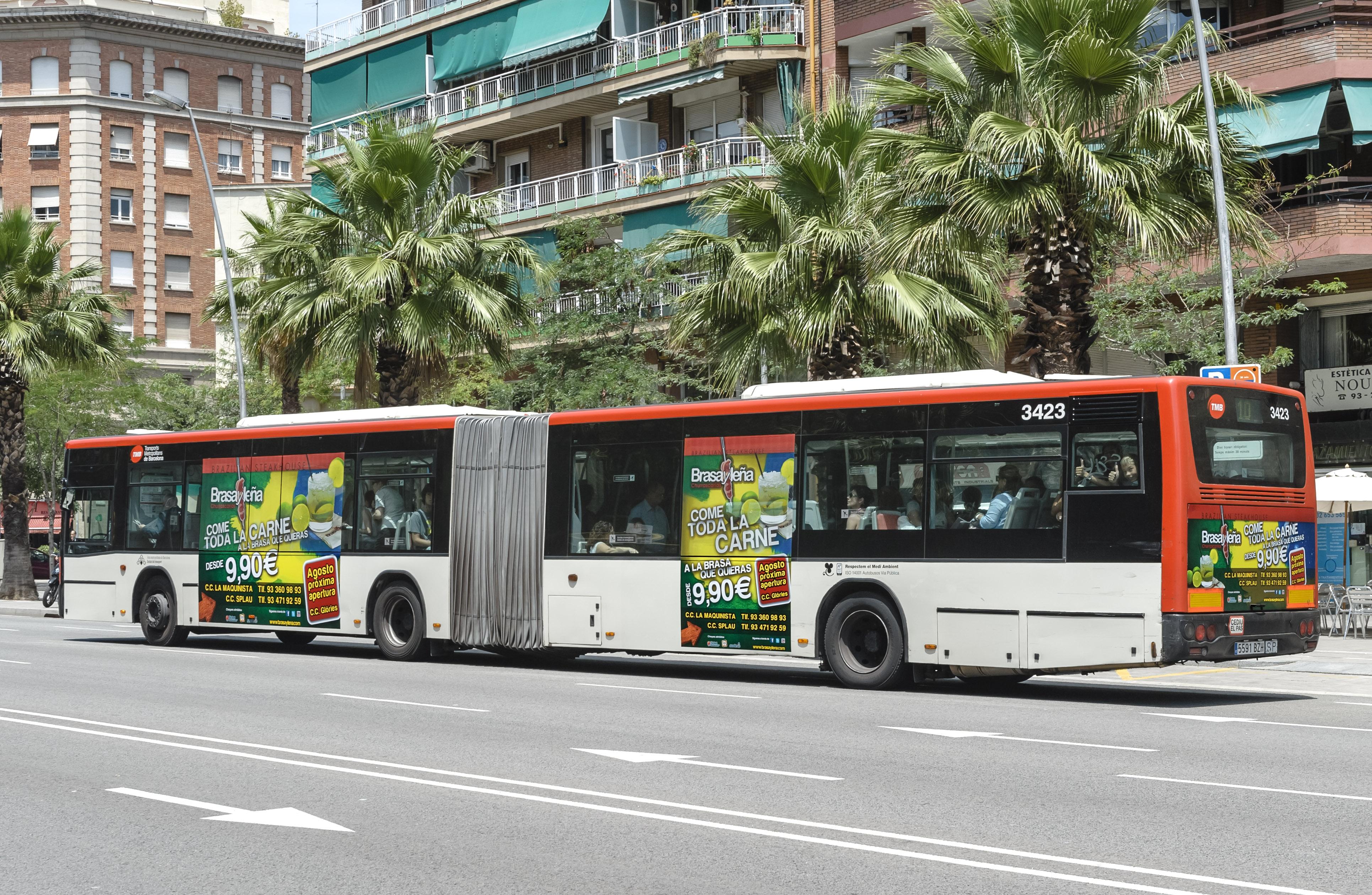 Anuncios en autobuses para restaurante BRASAYLEÑA