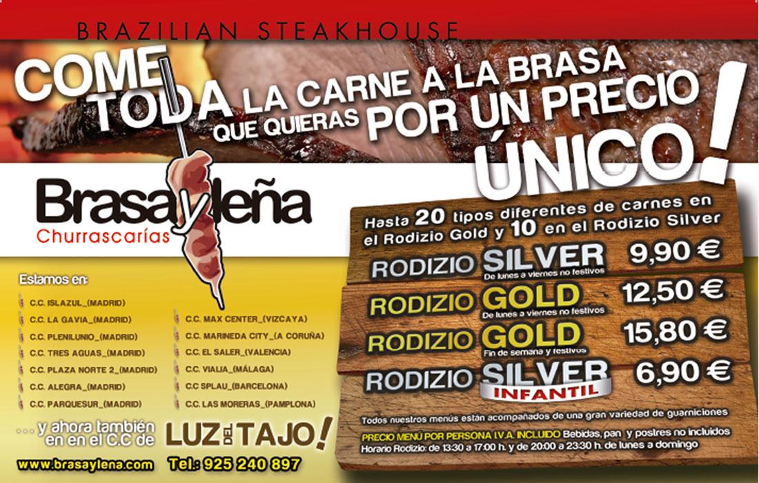 Campañas para los restaurantes BRASAYLEÑA