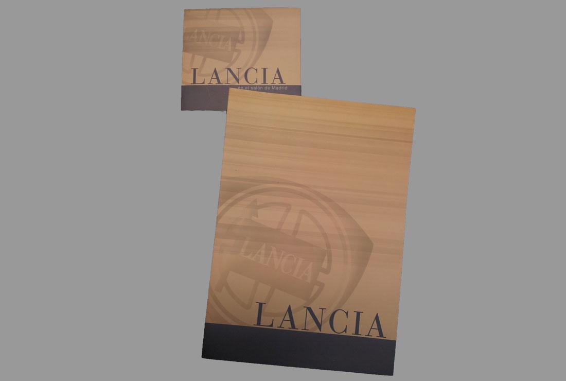 Carpeta departamento de prensa Lancia