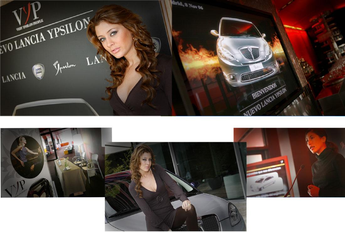 La modelo Elisabeth Reyes en la presentación de nuevo Lancia Ypsilon.