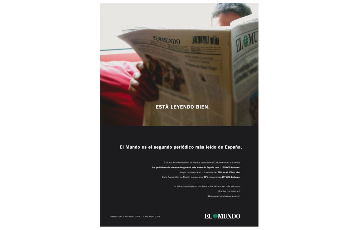 Campañas de publicidad EL MUNDO Anuncio