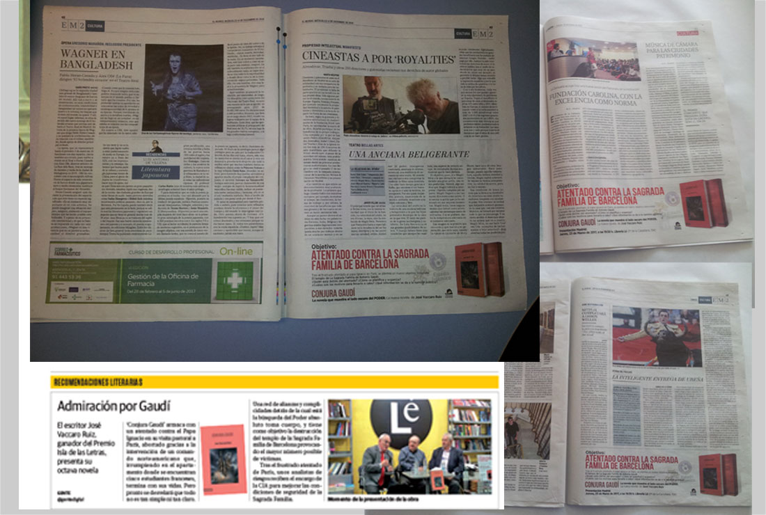 Anuncio de prensa y artículos sobre CONJURA GAUDÍ