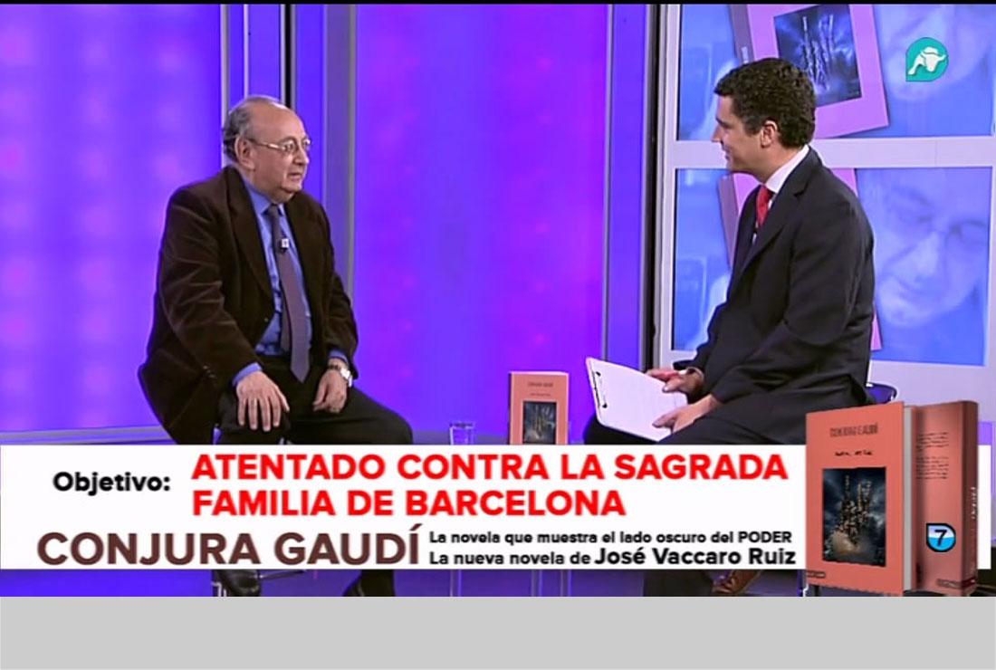 Entrevista a José Vaccaro Ruiz por su novela CONJURA GAUDÍ