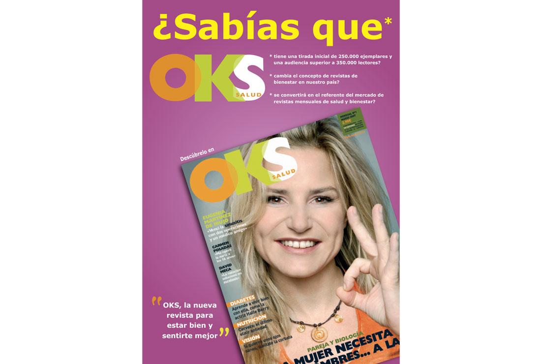 Anuncio Eugenia Martínez de Irujo. Campaña de publicidad lanzamiento revista OKS Salud