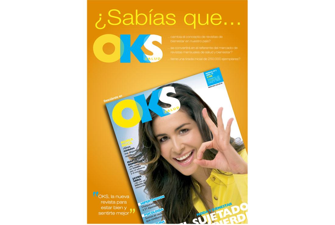 Anuncio Nuria Roca. Campaña de publicidad lanzamiento revista OKS Salud