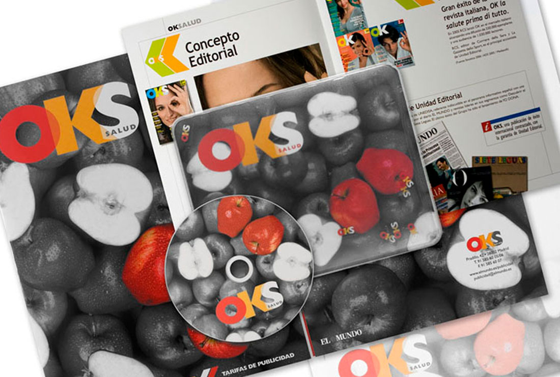 Artículos envío marketing directo. Campaña de publicidad lanzamiento OKS Salud