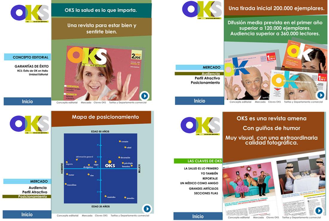 Presentación OKS Salud. Campaña de publicidad lanzamiento.