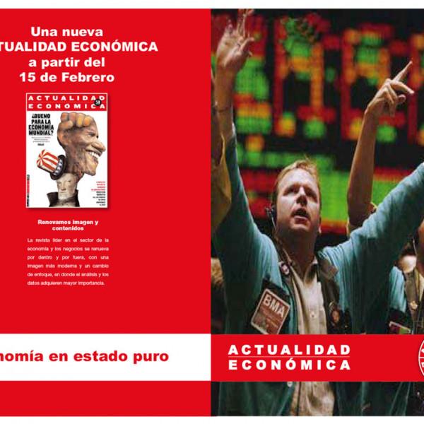 Anuncio doble página Campaña de publicidad Actualidad Económica 50 Aniversario