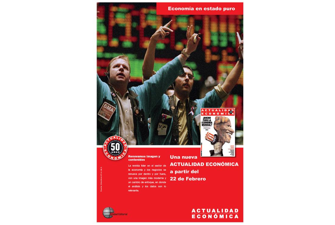 Anuncio campaña de publicidad Actualidad Económica 50 Aniversario