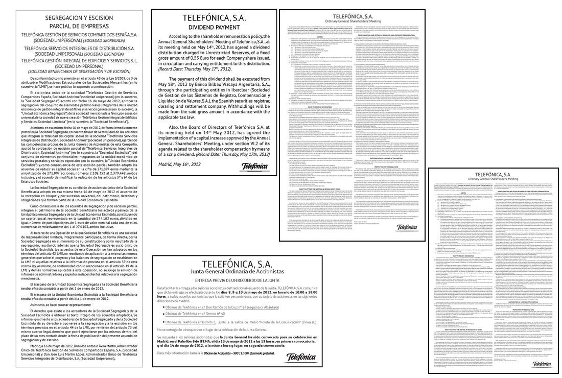 Anuncios Oficiales 2012 de Telefónica