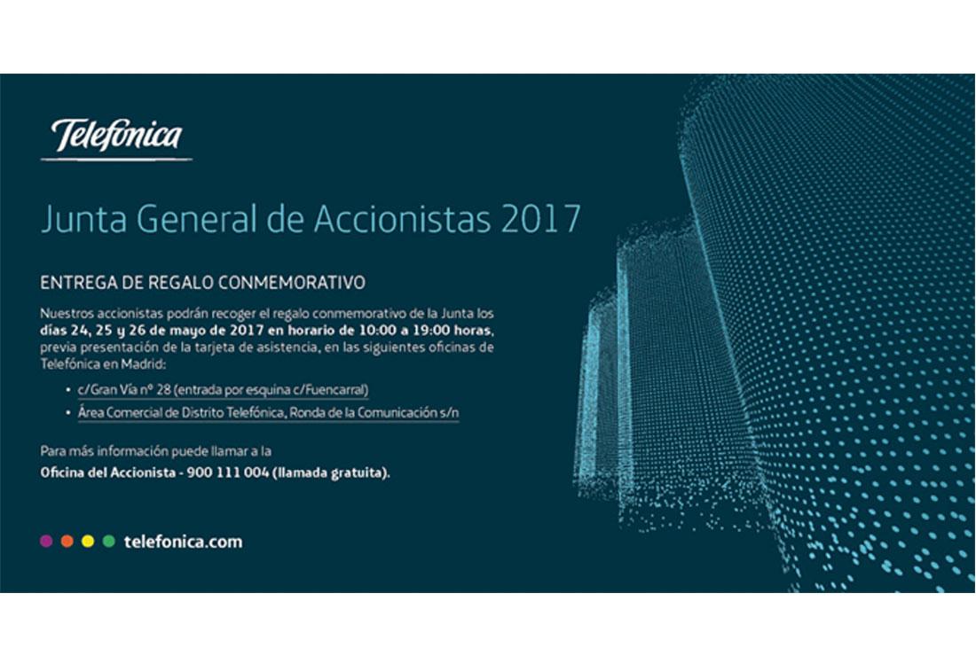Anuncio Entrega Regalo Accionistas 2017 Telefónica