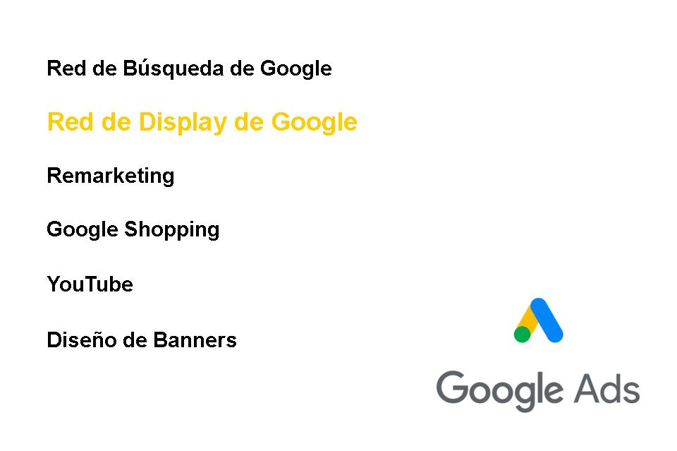Publicidad con Google Ads. Campañas en la Red de Display.