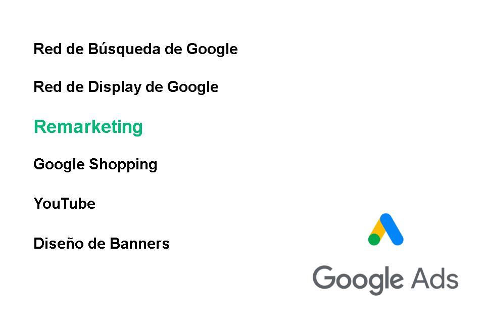 Publicidad con Adwords. Remarketing con Google Ads
